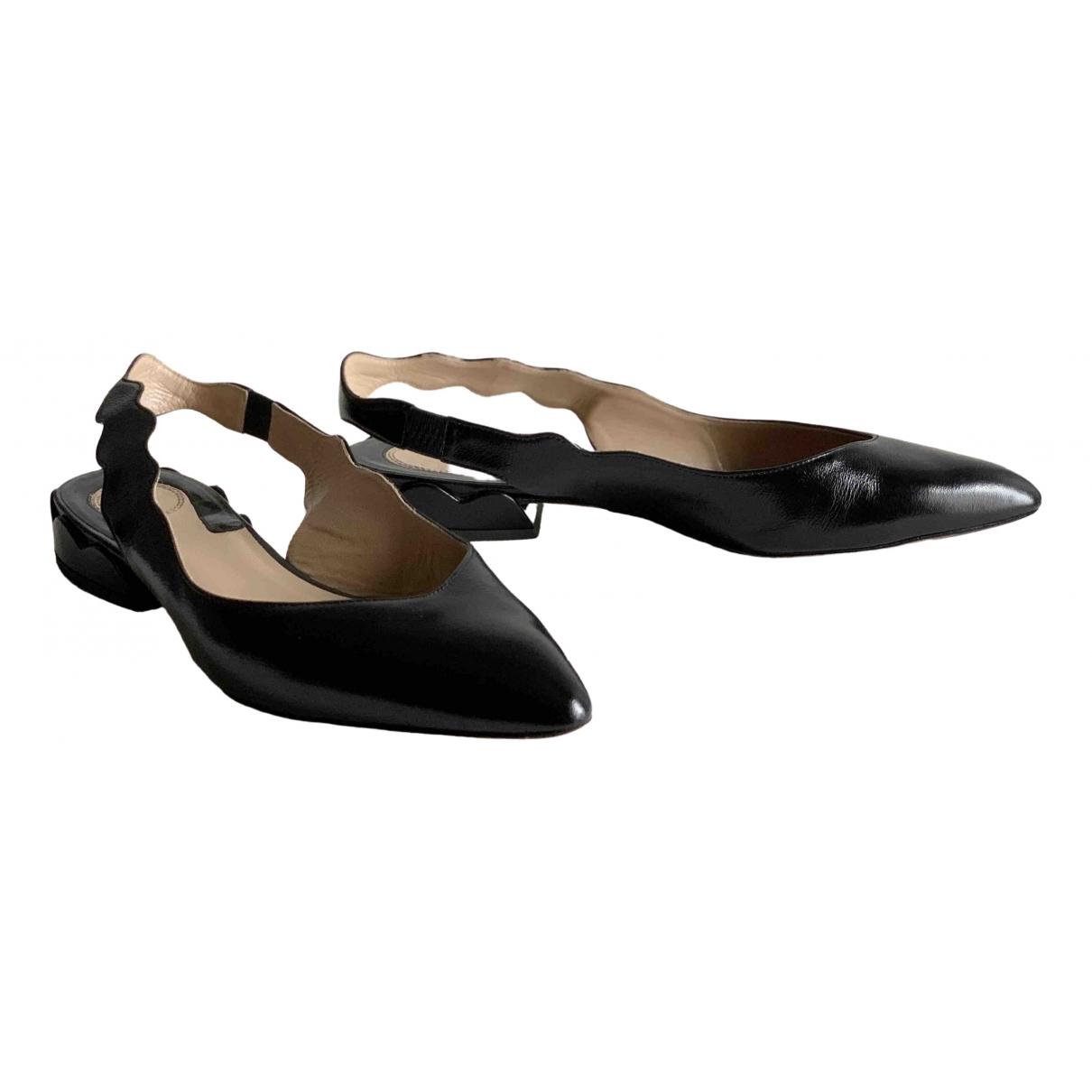 Chloé Lauren Black Leather Ballet flats for Women 39 EU