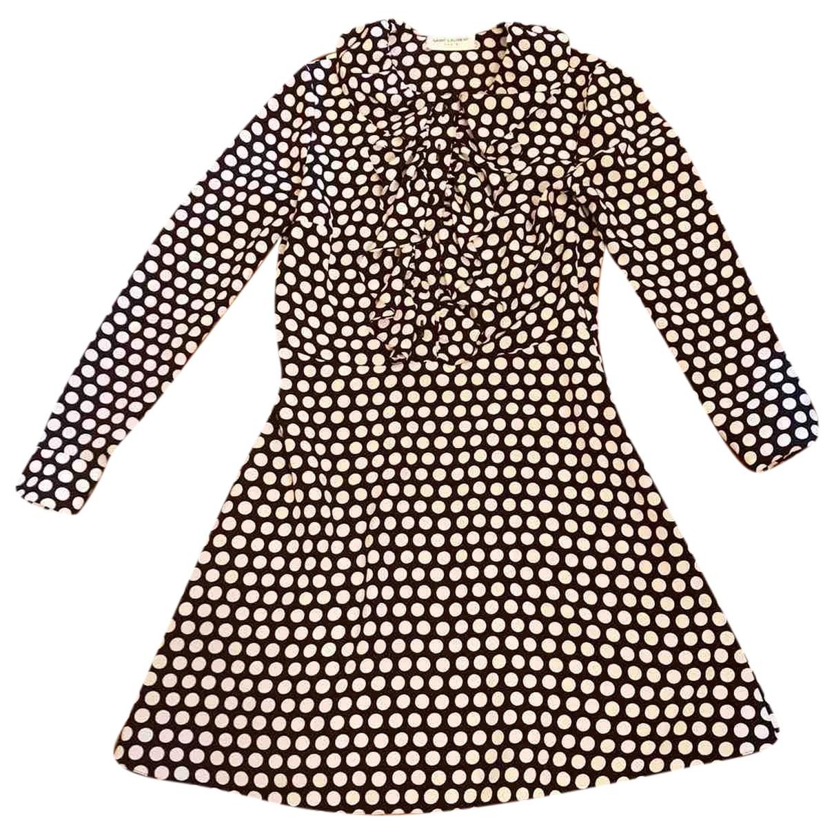 Saint Laurent \N Multicolour Silk dress for Women 38 FR