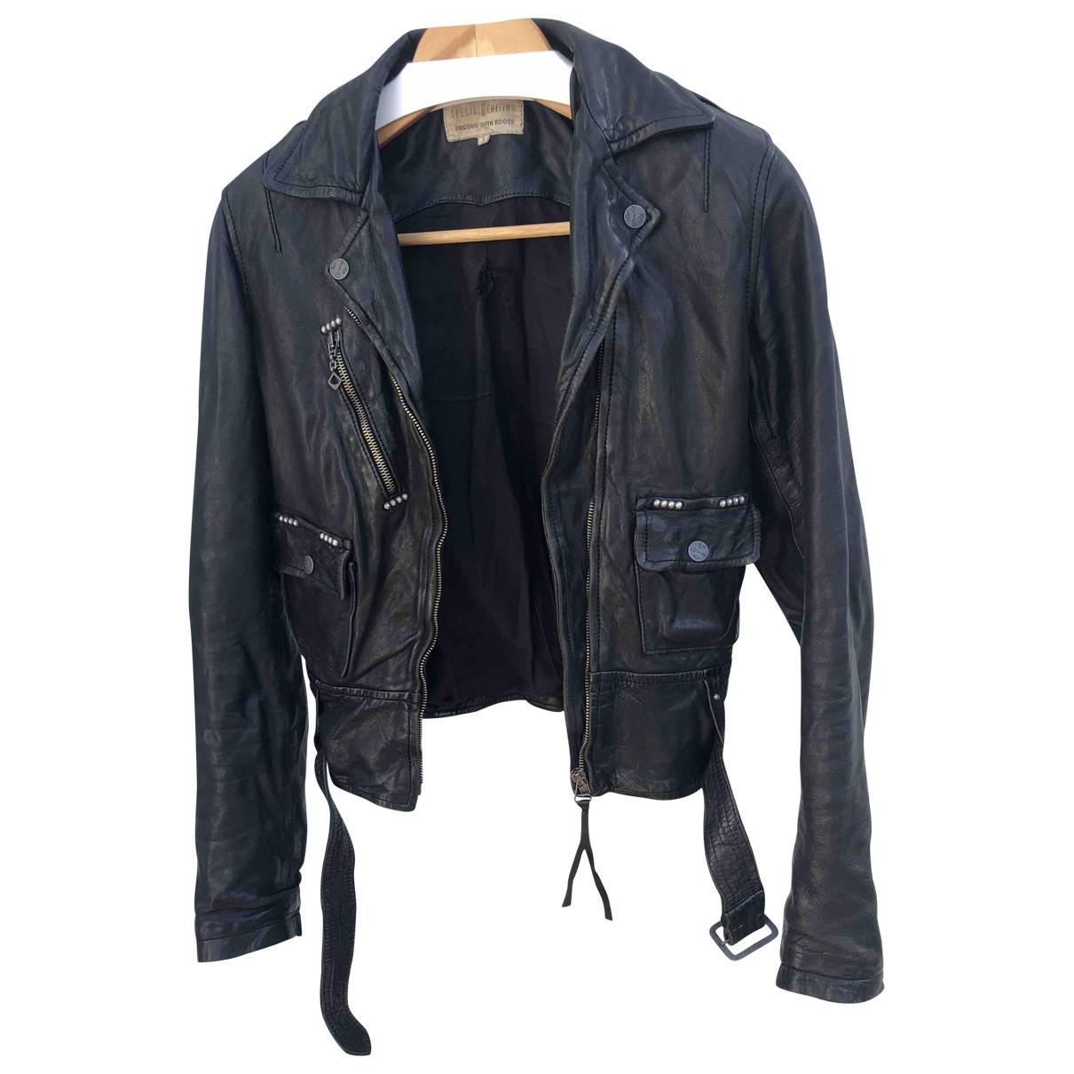Levis - Veste   pour femme en cuir - noir