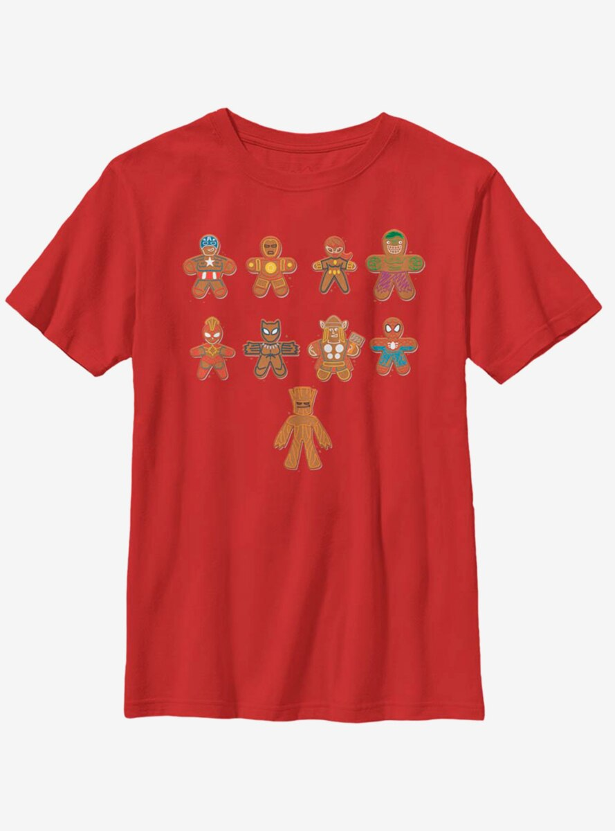 Marvel Avengers Lined Up Cookies Youth T-Shirt