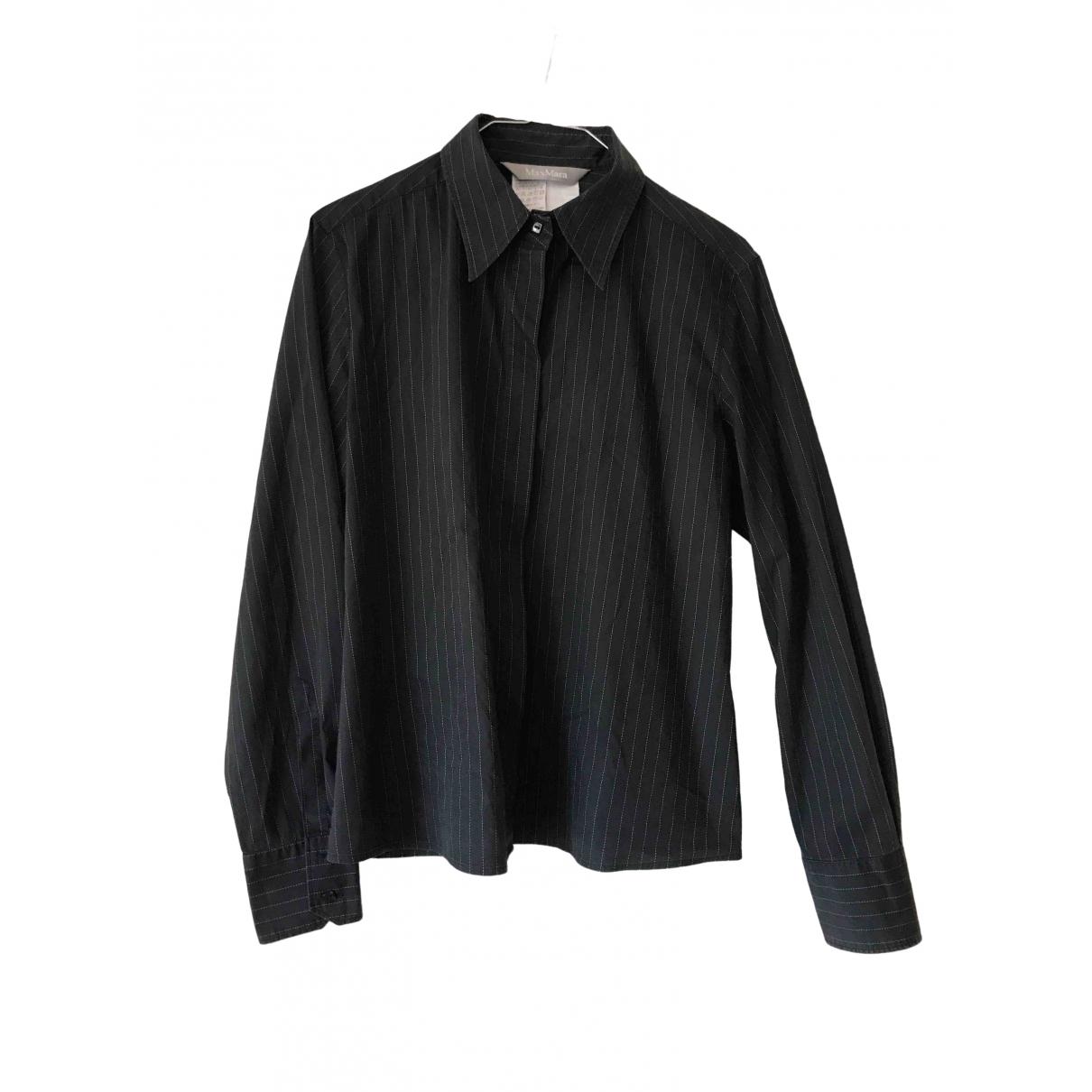 Max Mara \N Black Cotton  top for Women 46 IT