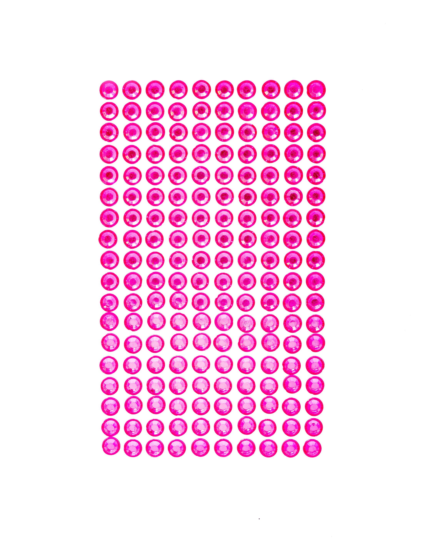 Kostuemzubehor Strasssticker pink 180 Stk.