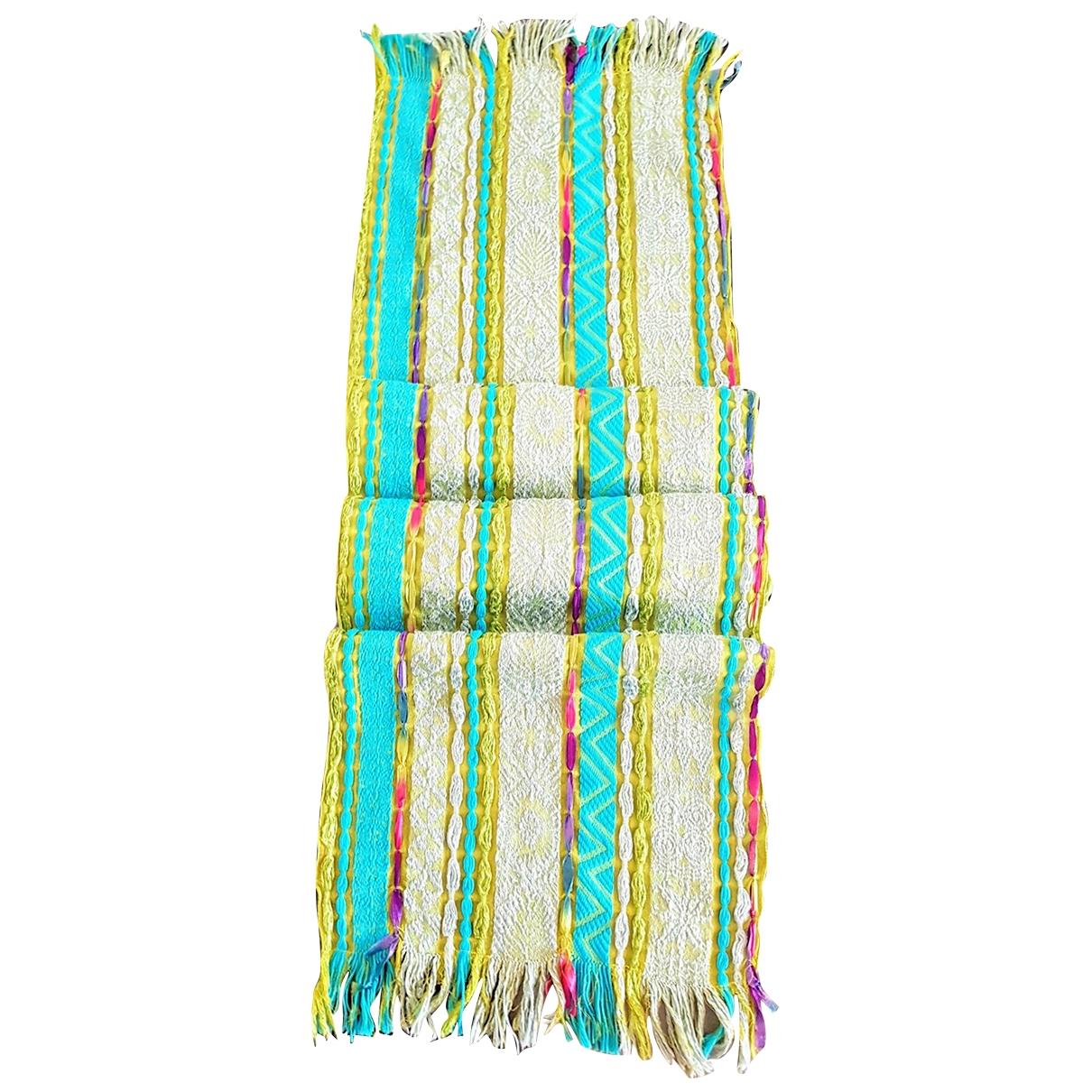Kenzo - Foulard   pour femme en lin - multicolore