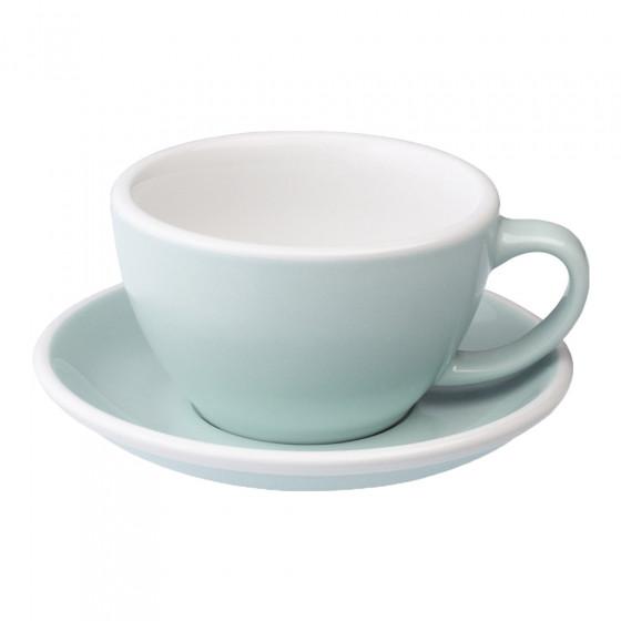 Café Latte cup with a saucer Loveramics Egg River Blue, 300 ml