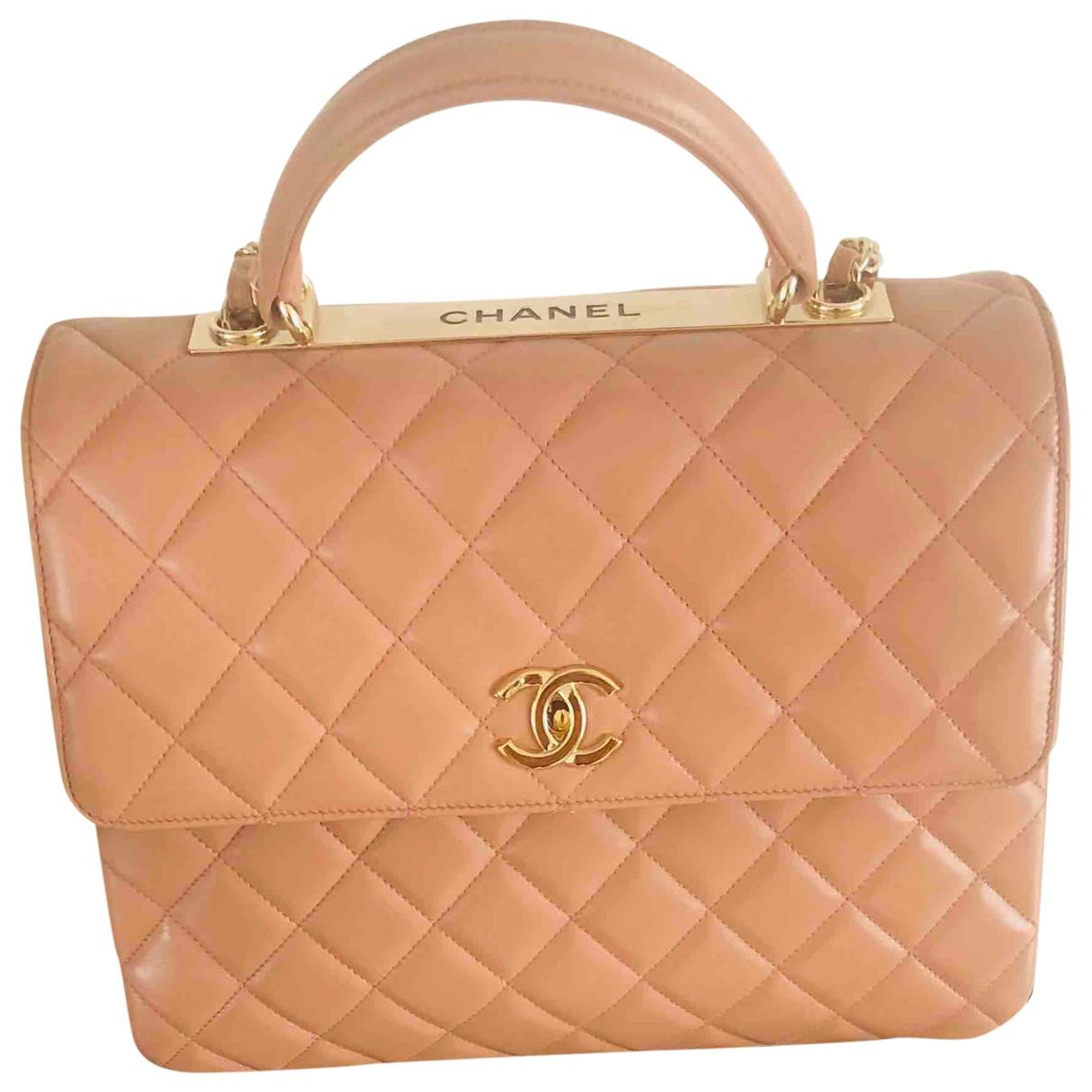 Chanel Trendy CC Handtasche in  Beige Leder