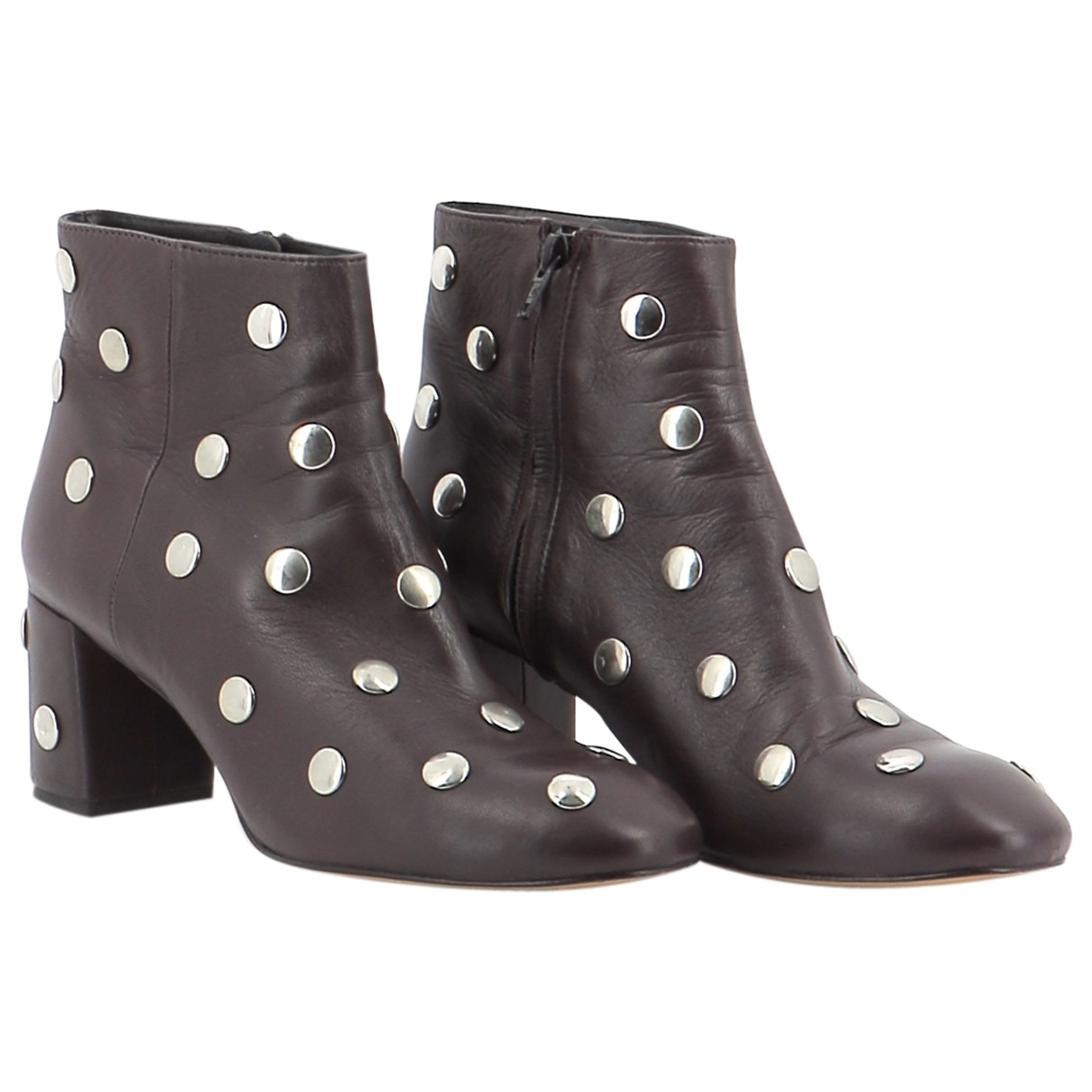 Bimba Y Lola \N Brown Leather Ankle boots for Women 40 EU