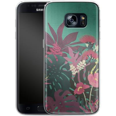 Samsung Galaxy S7 Silikon Handyhuelle - Tropical Tendencies von Little Clyde