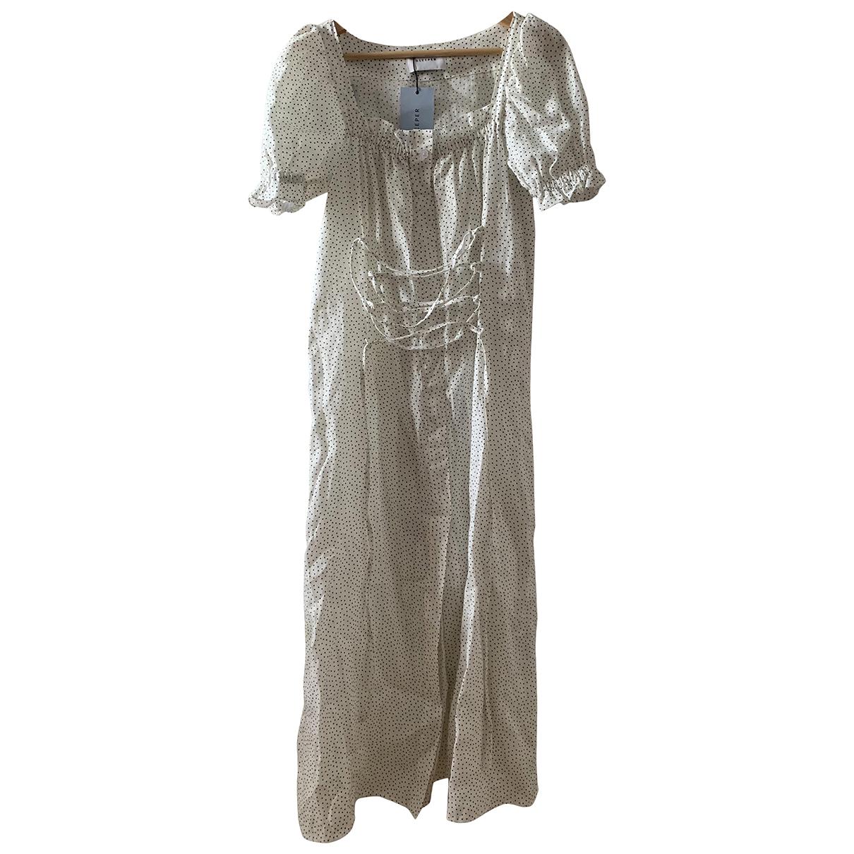 Sleeper \N Kleid in  Weiss Leinen
