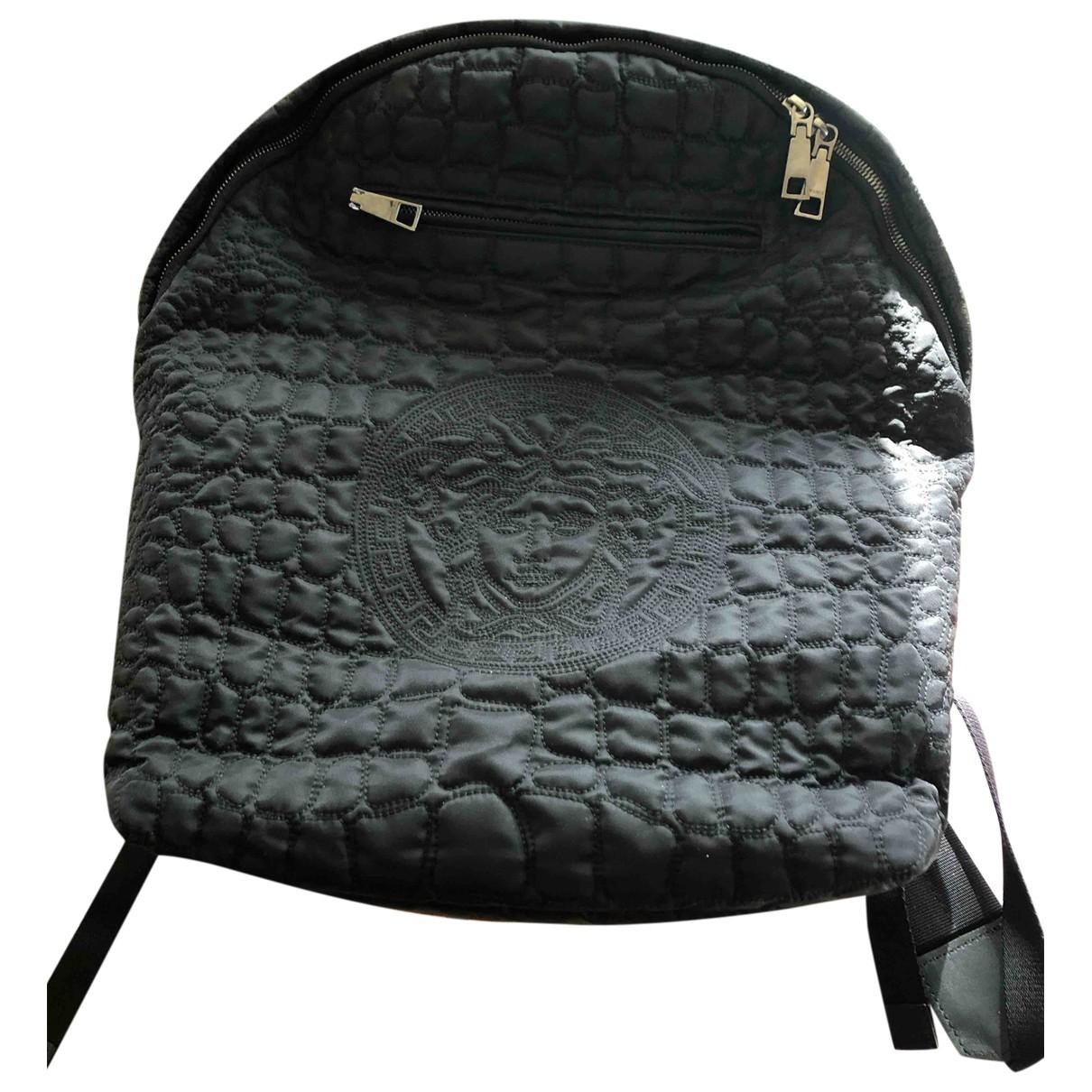 Versace - Sac a dos   pour femme en toile - noir
