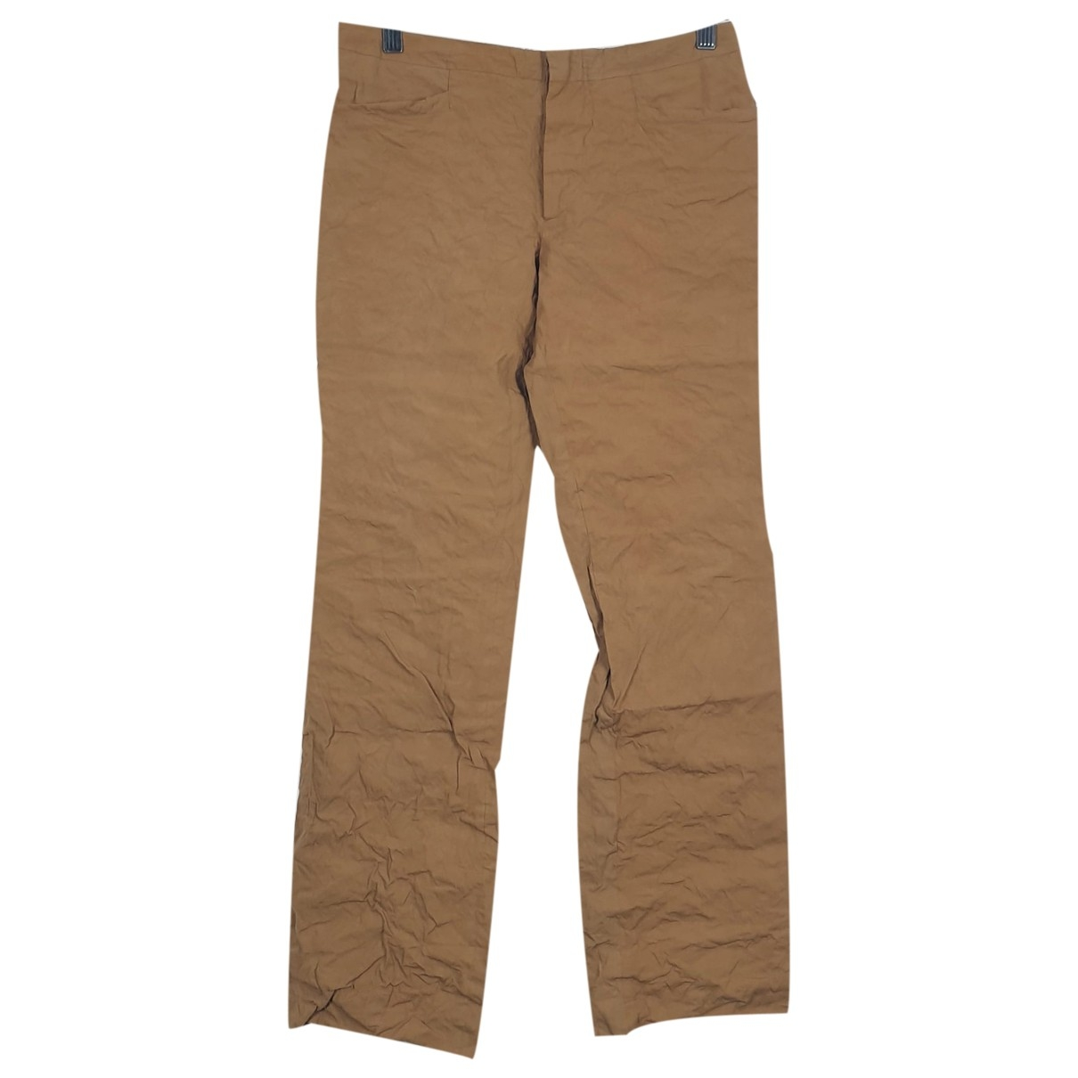 Romeo Gigli \N Camel Cotton Trousers for Women 40 IT