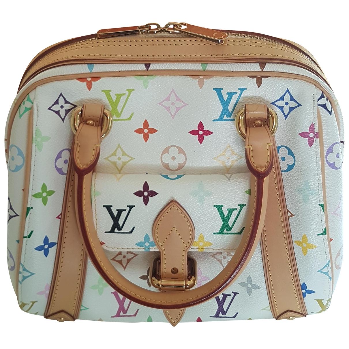 Louis Vuitton Priscilla Handtasche in  Weiss Leinen
