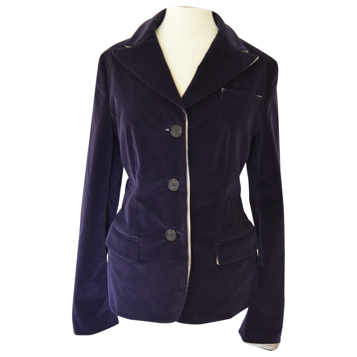 Prada - Veste   pour femme en coton - violet