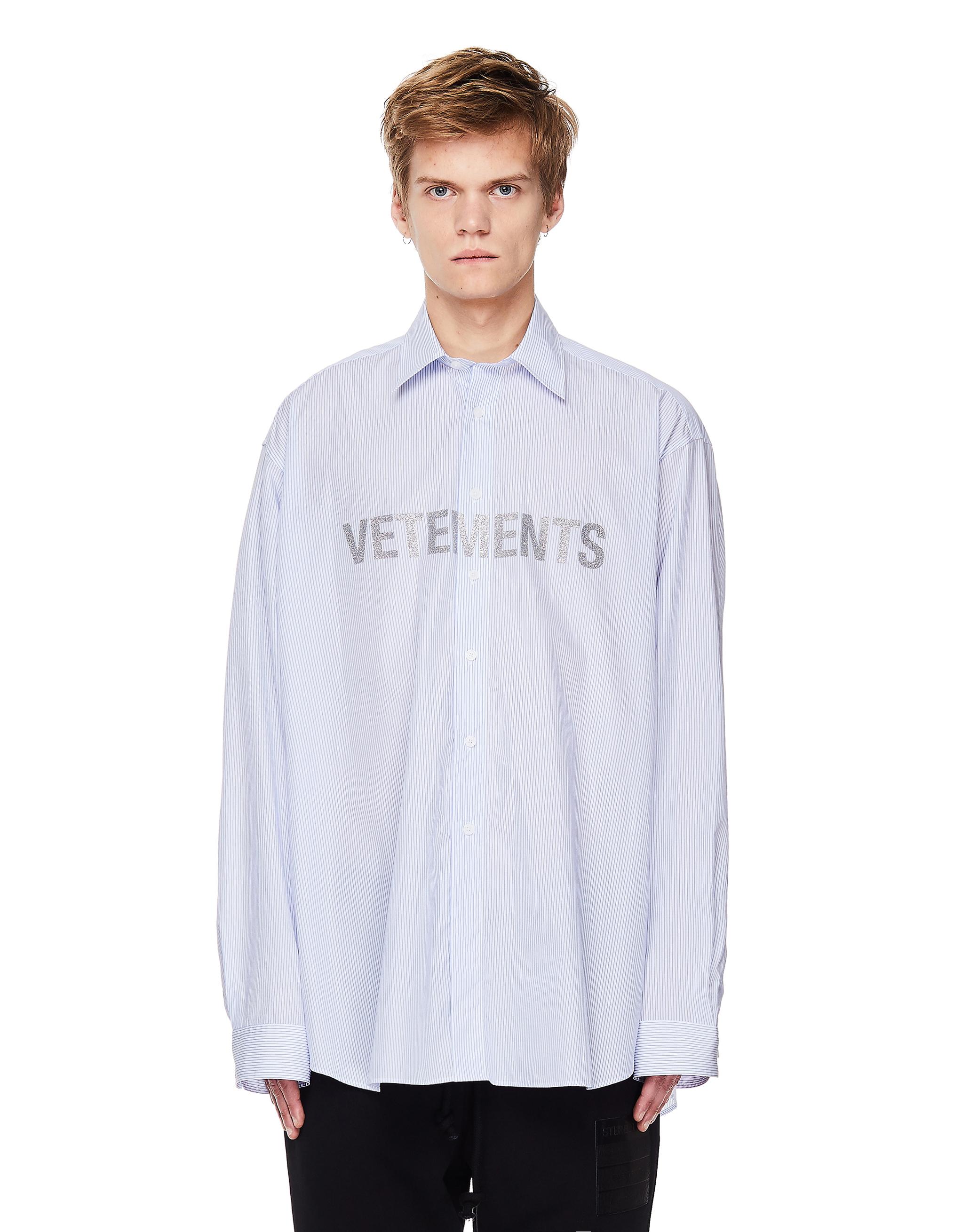 Vetements White Cotton Logo Shirt
