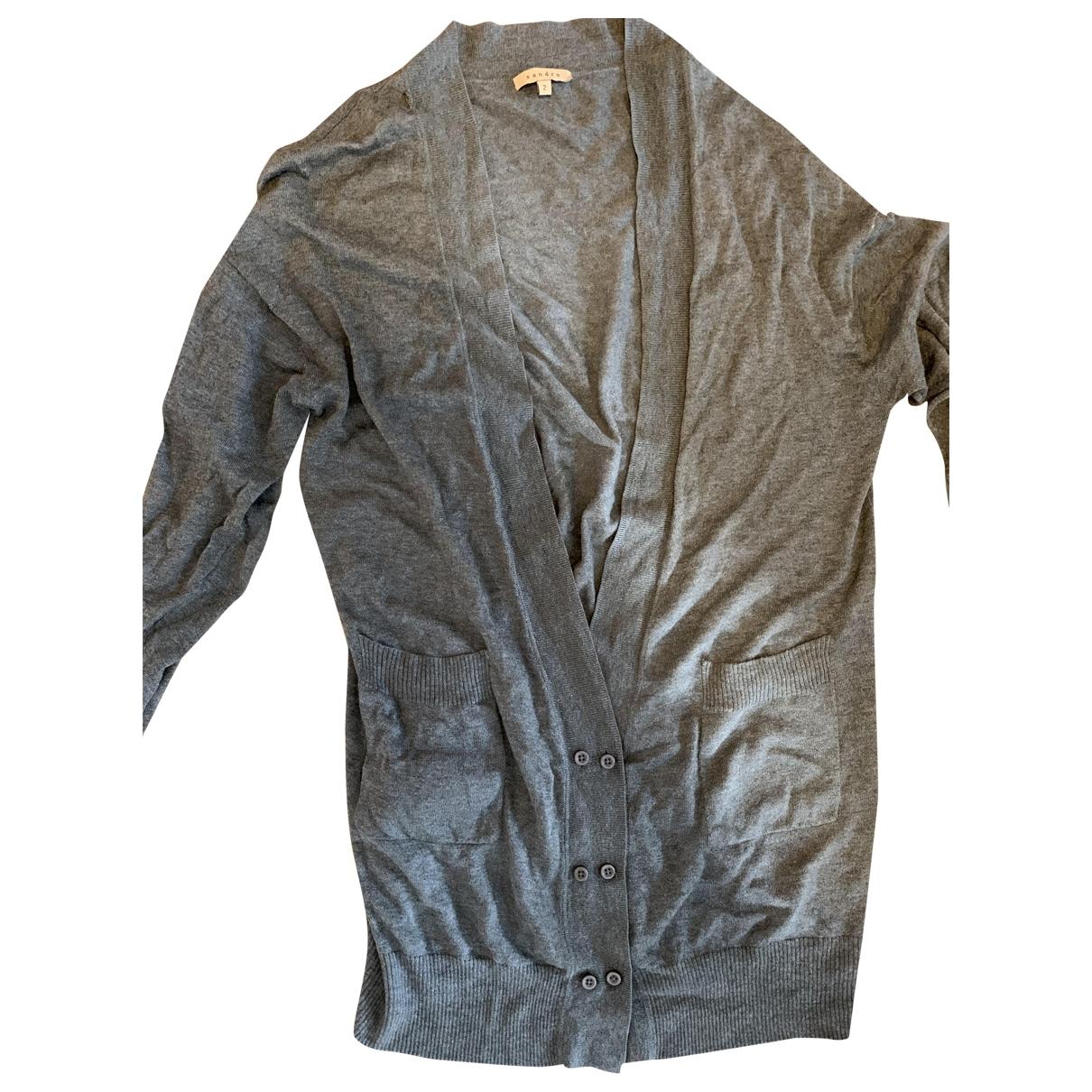 Sandro \N Pullover in  Grau Seide