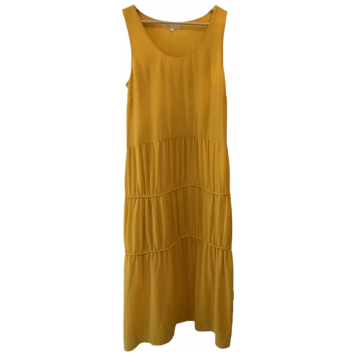Maje \N Kleid in  Gelb Polyester