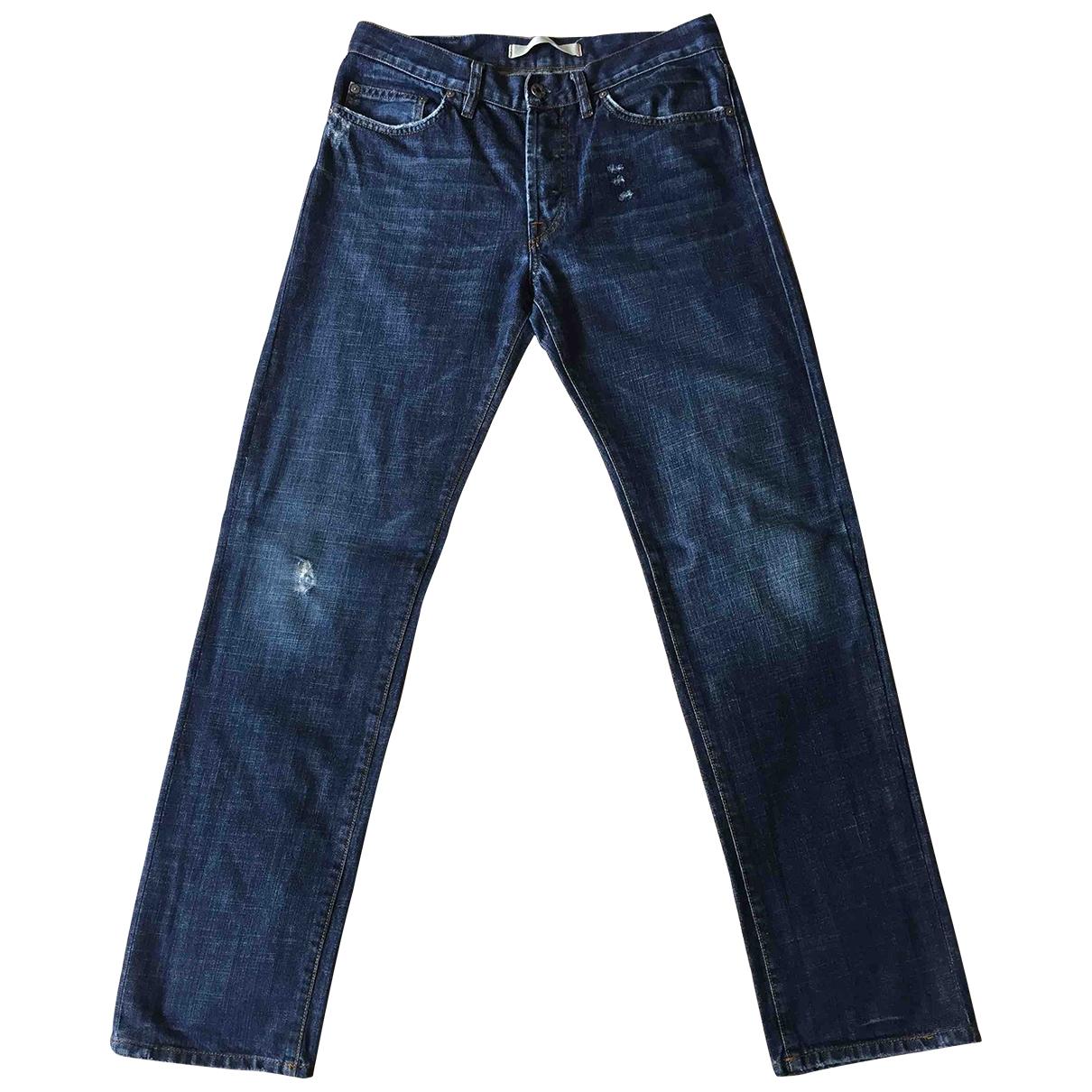 Mauro Grifoni \N Blue Cotton Jeans for Men 34 US