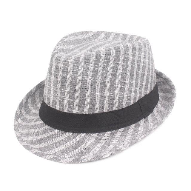 Men's Hat Striped Retro Jazz Hat Middle-aged Hat Season Visor Old Hat Hat