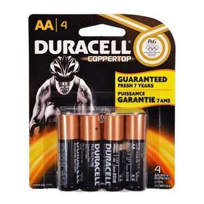 COPPERTOP ALKALINE AA BATTERIES - DURACELL® - 4/PACK