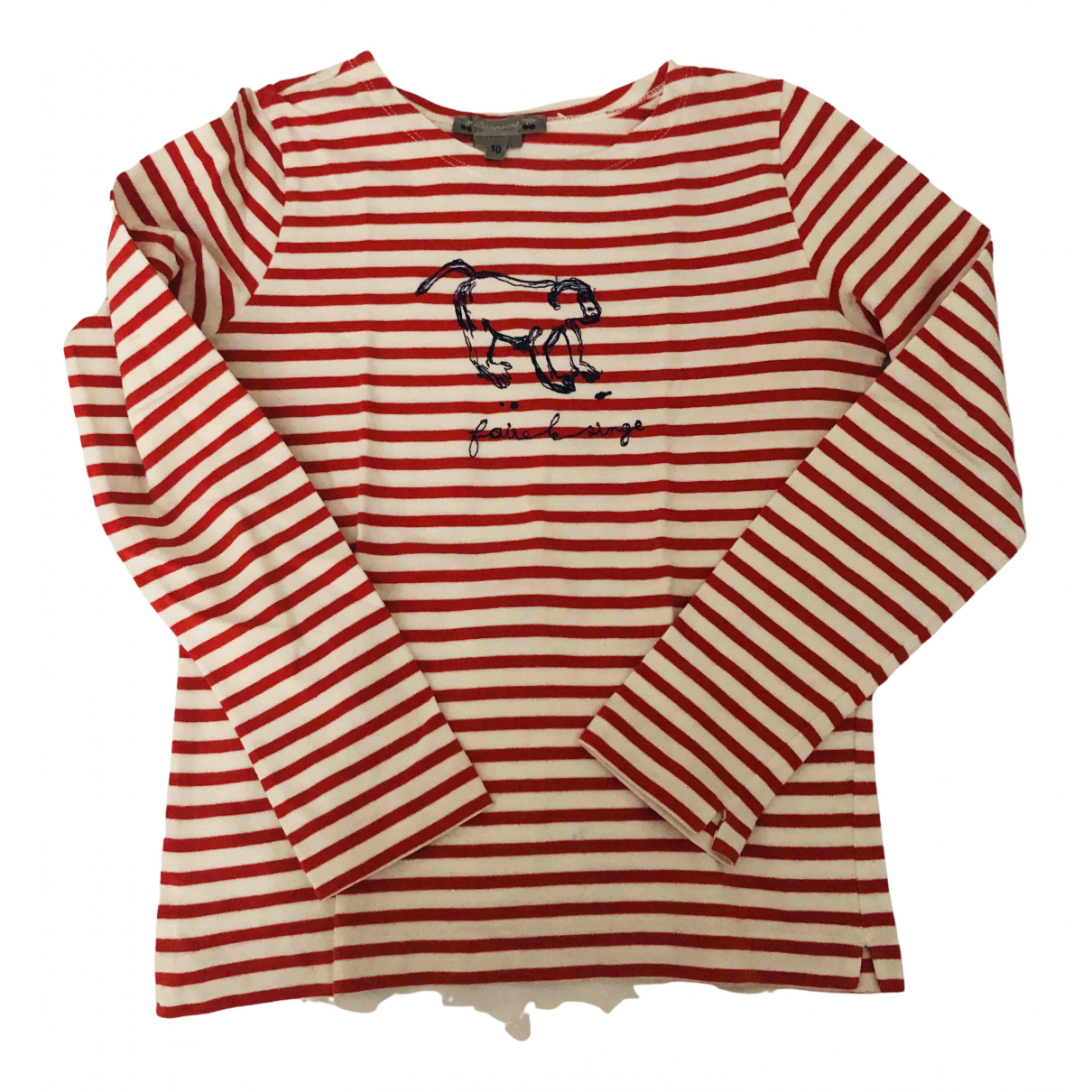 Bonpoint \N Red Cotton  top for Kids 10 years - up to 142cm FR