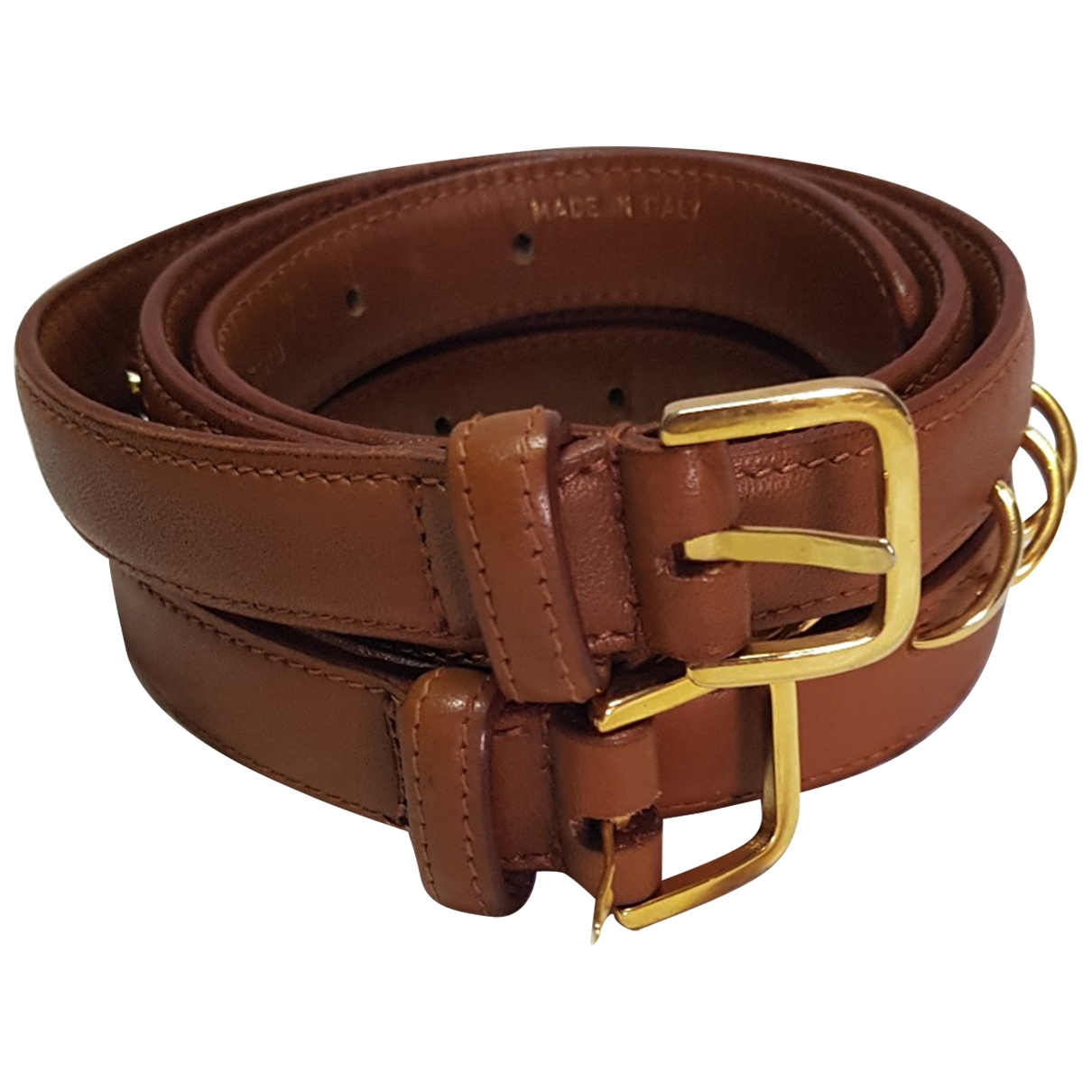 Valentino Garavani \N Camel Leather belt for Women 70 cm