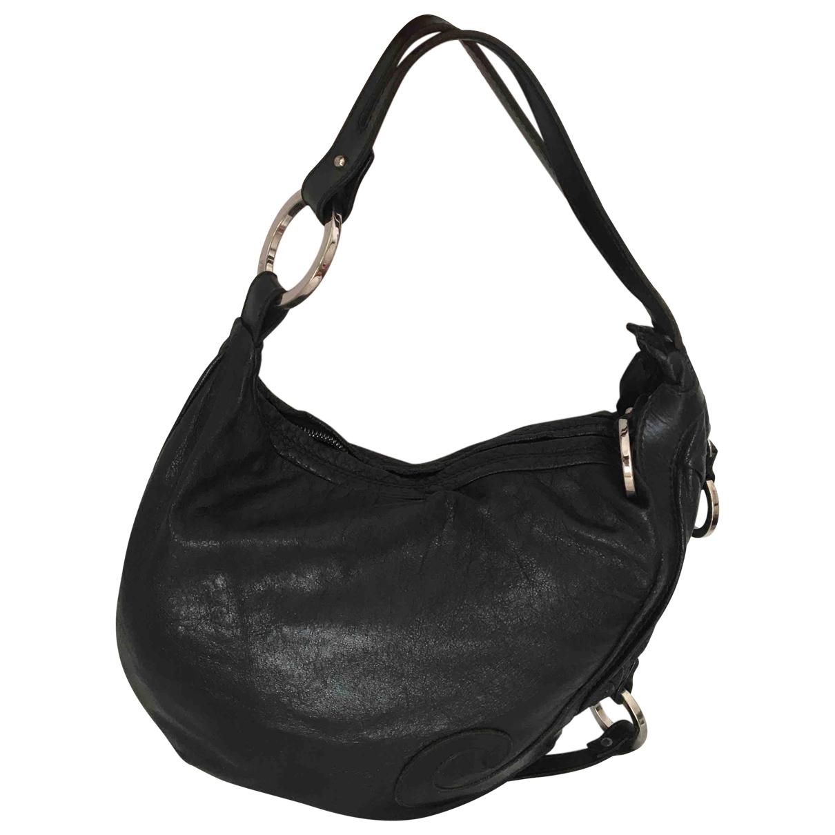 Fendi - Sac a main Oyster pour femme en cuir - noir