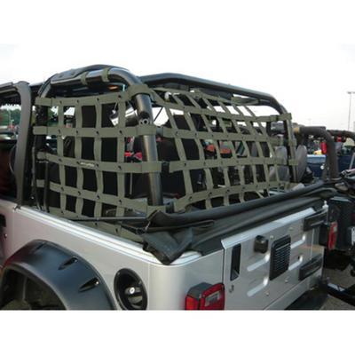 DirtyDog 4x4 Rear Cargo Netting (Olive Drab) - T2NN97RCOD