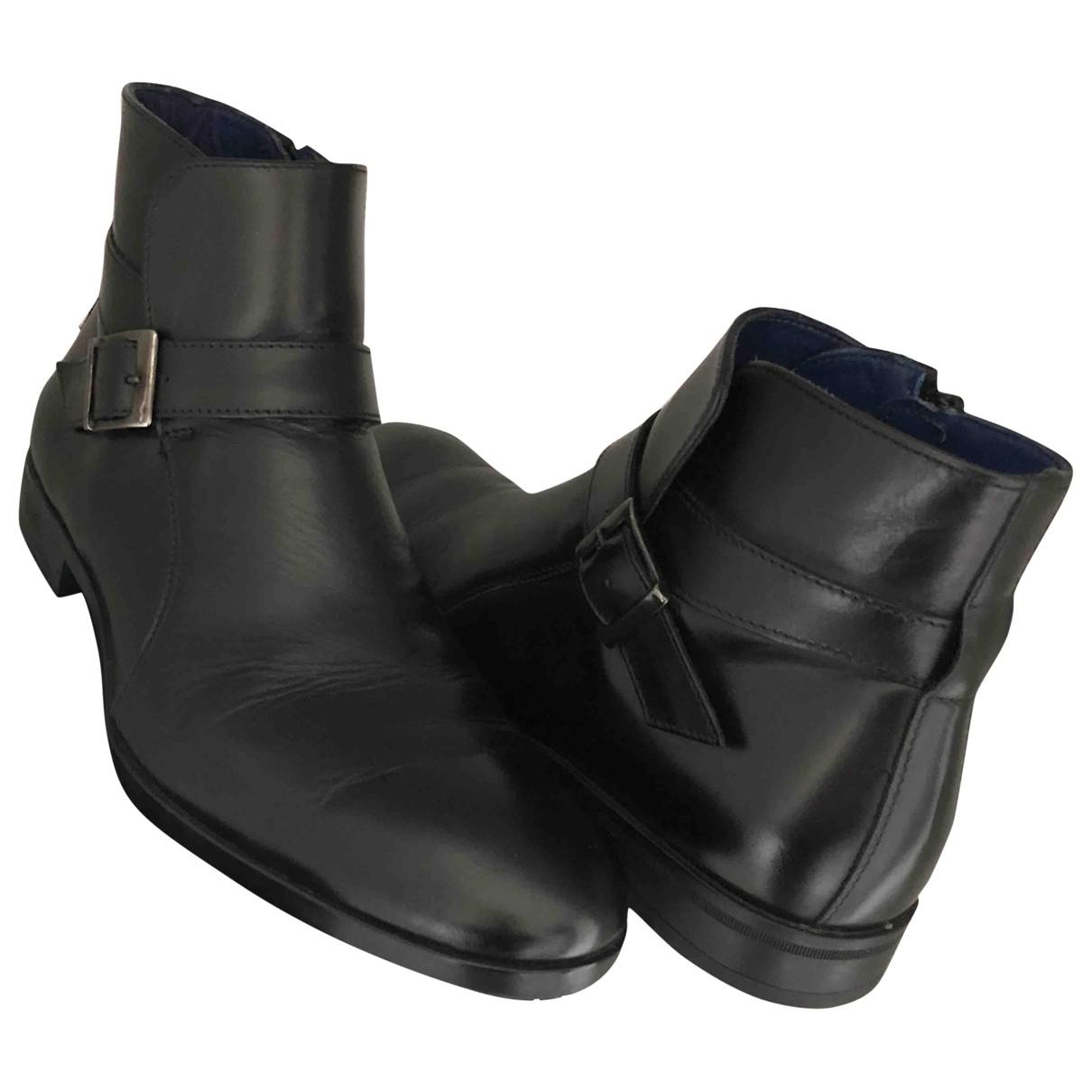 Azzaro \N Stiefel in  Schwarz Leder