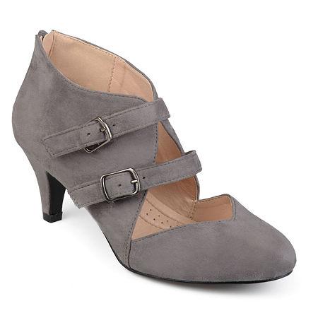 Journee Collection Womens Ohara Pumps Stiletto Heel, 6 1/2 Medium, Gray