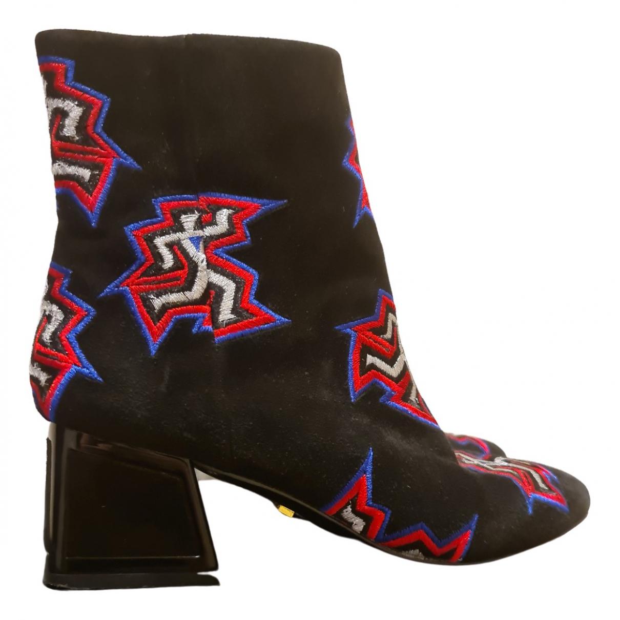 Kat Maconie - Boots   pour femme en suede - noir