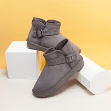 Buckle Decor Wide Fit Snow Boots
