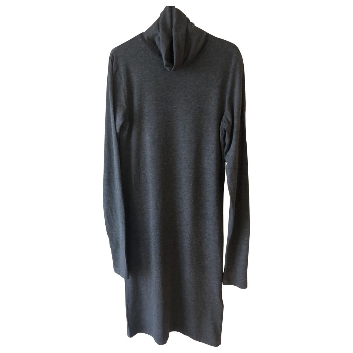 Samsoe & Samsoe \N Kleid in  Grau Baumwolle - Elasthan