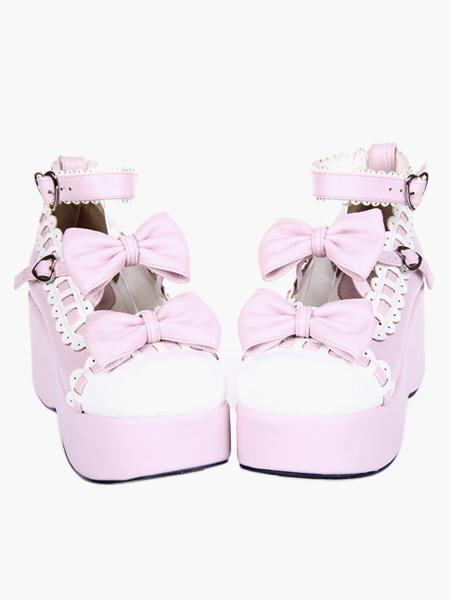 Milanoo Swee Lolita Platform Shoes Ankle Strap Lolita Flatform Shoes
