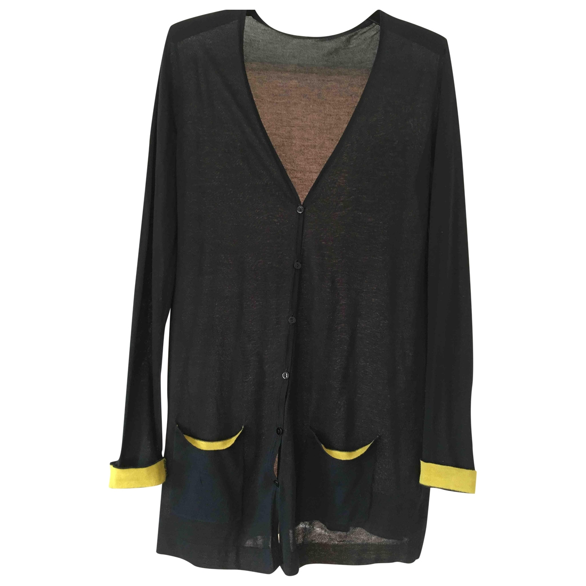 Non Signé / Unsigned \N Black Cotton Knitwear for Women 42 IT