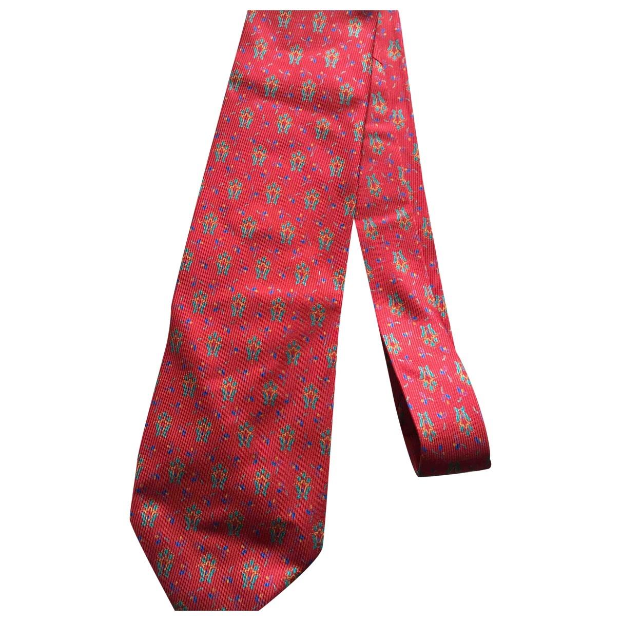 - Cravates   pour homme en soie - rouge