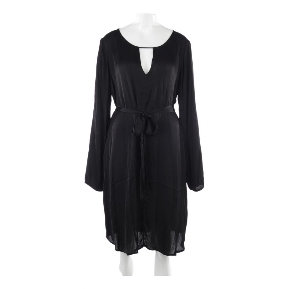 Velvet - Robe   pour femme en coton - noir