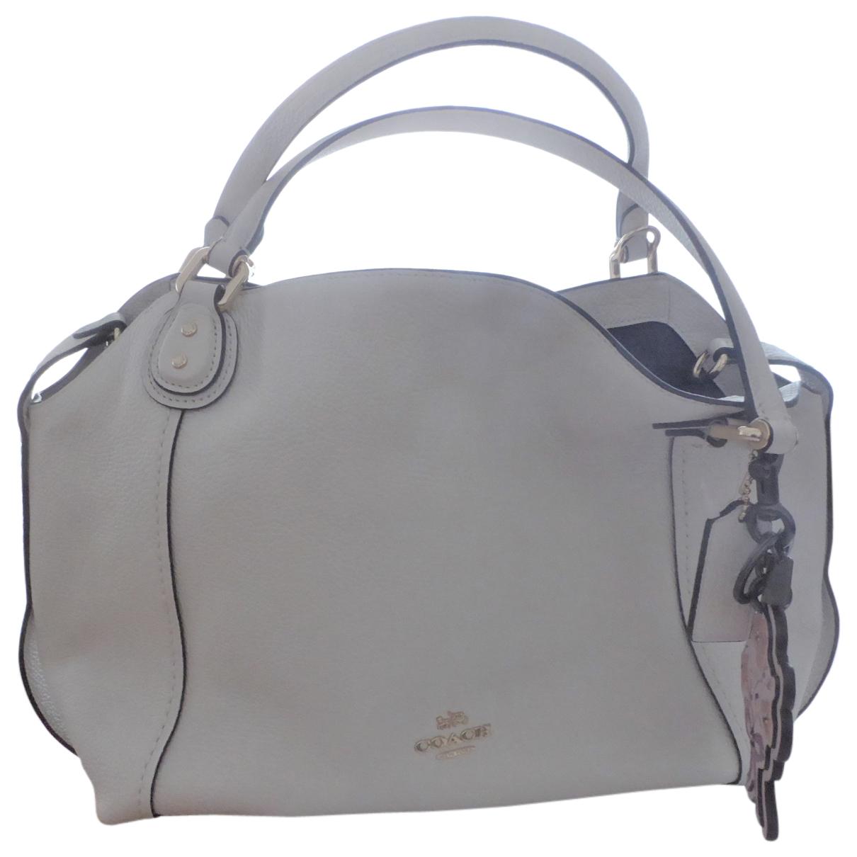 Coach Edie Ecru Leather handbag for Women \N
