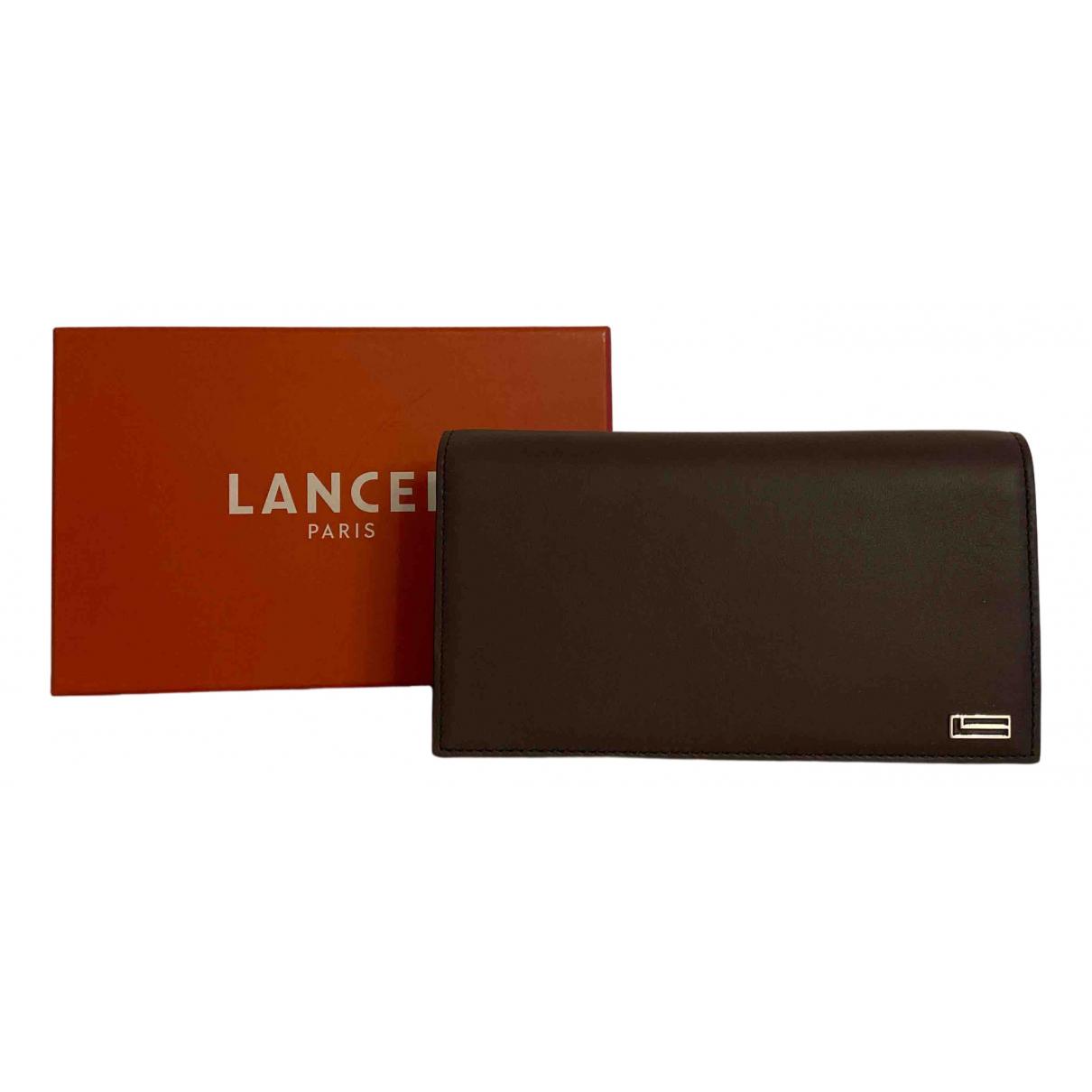 Lancel - Portefeuille   pour femme en cuir - marron