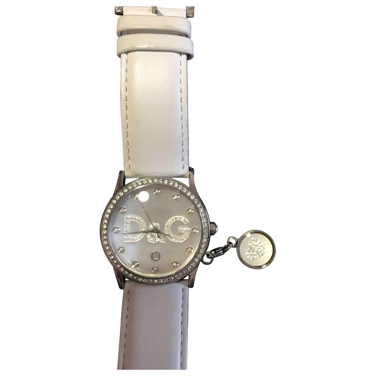D&g \N White Steel watch for Women \N