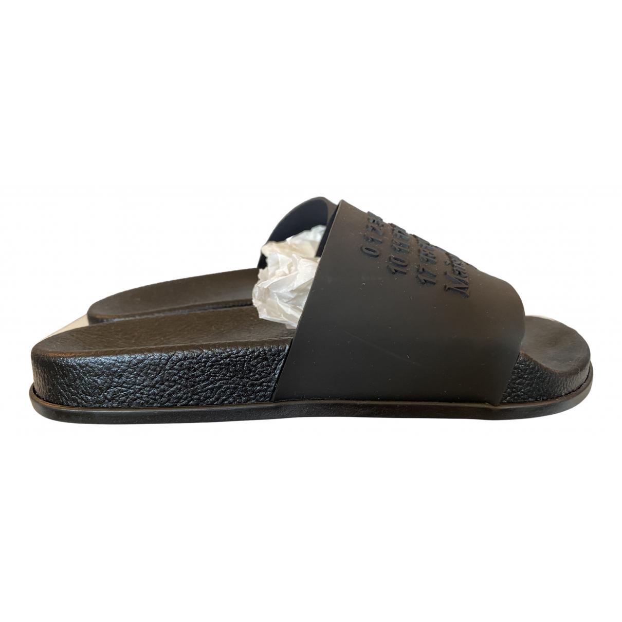 Maison Martin Margiela \N Black Rubber Sandals for Men 40 EU