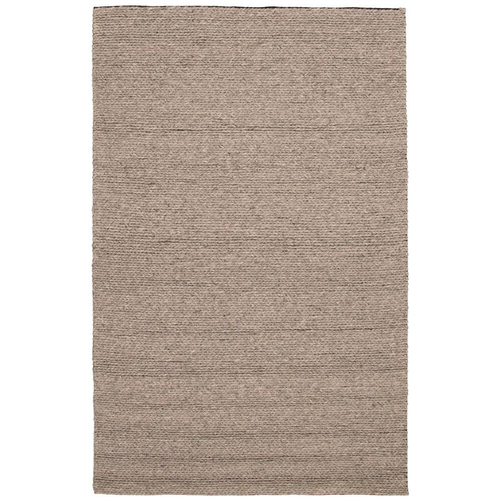 ECARPETGALLERY  Braid weave Sienna Grey Wool Rug - 6'5 x 9'11 (Grey - 6'5 x 9'11)