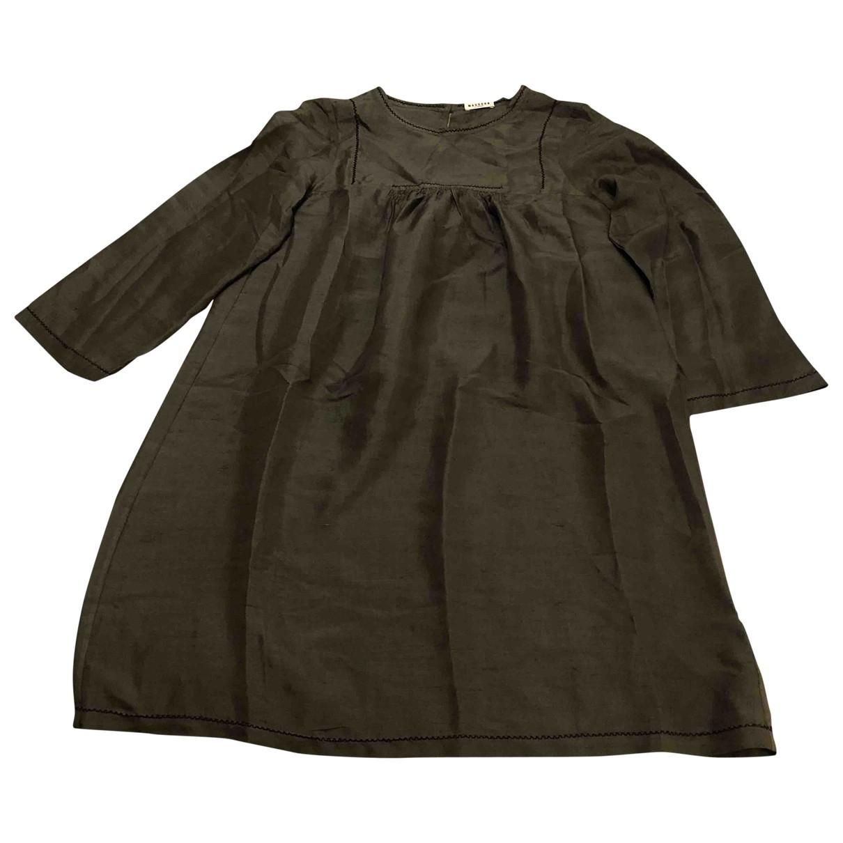 Vestido midi de Seda Masscob