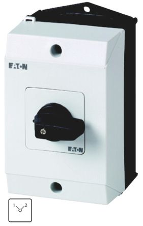 Eaton 3 Pole Enclosed Non Fused Isolator Switch - 10 A dc, 20 A ac Maximum Current, 22 kW Power Rating, IP65