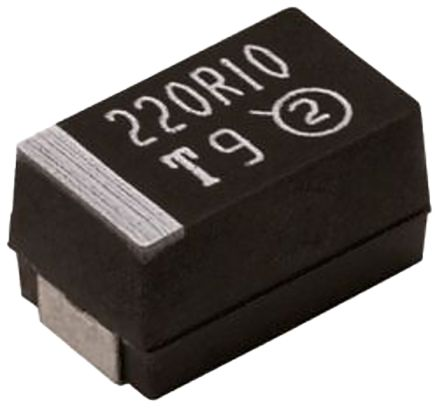 Vishay Tantalum Capacitor 100μF 10V dc MnO2 Solid ±10% Tolerance , TR3 (5)