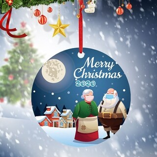 2020 Christmas Ornaments Hanging Decoration Gift Personalized Family - 3.93x5.9x1.96 inch (P)