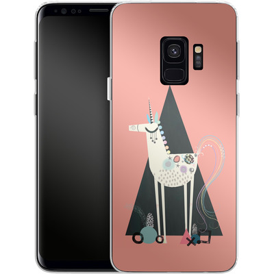 Samsung Galaxy S9 Silikon Handyhuelle - Unicorn Triangle von Victoria Topping