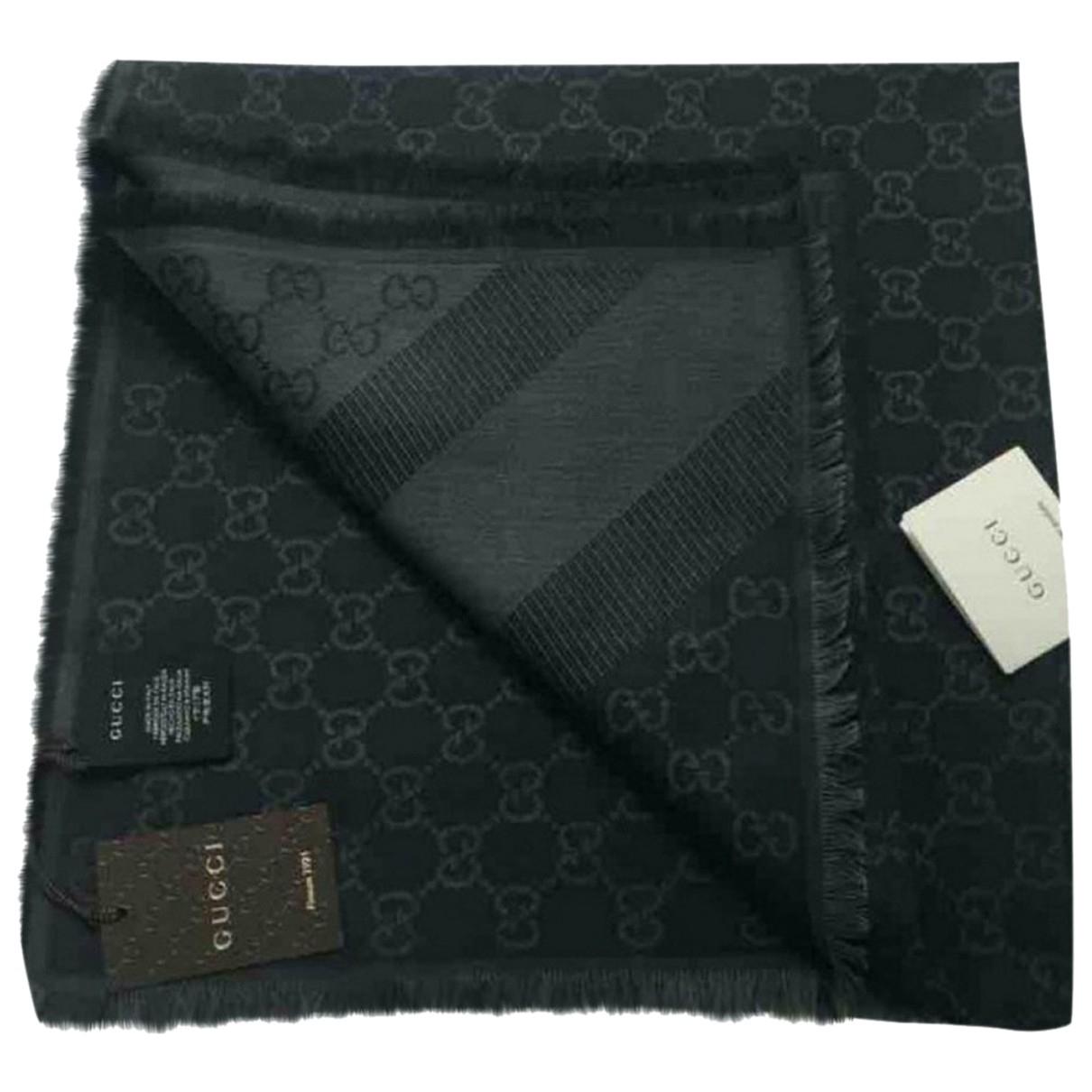 Gucci - Foulard   pour femme en laine - gris