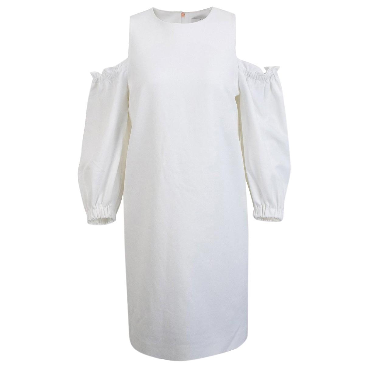 Tibi \N Kleid in  Weiss Synthetik