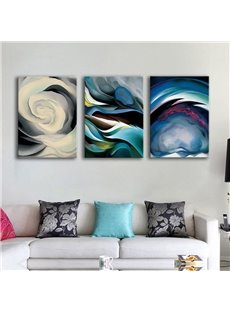 Creative Abstract Clouds Colorful Pattern 3 Panels Framed Wall Art Prints