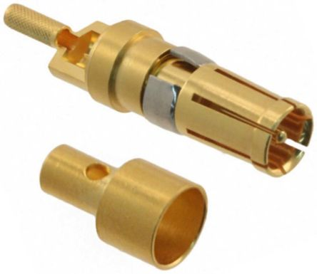 HARTING D-Sub Mixed Series Female Crimp, Solder D-Sub Connector Coaxial Contact, Gold Plated Coaxial 0969