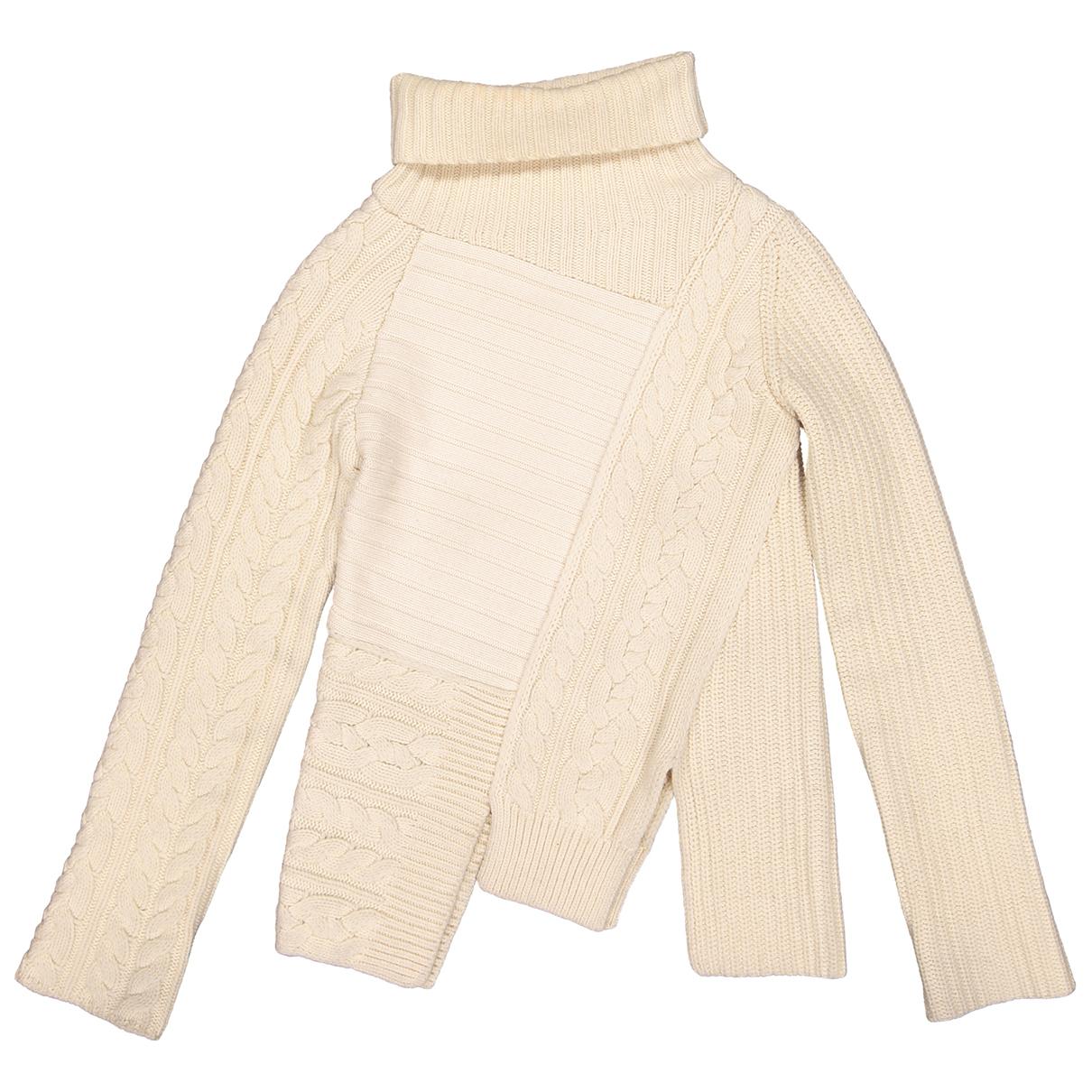 Joseph - Pull   pour femme en laine - ecru